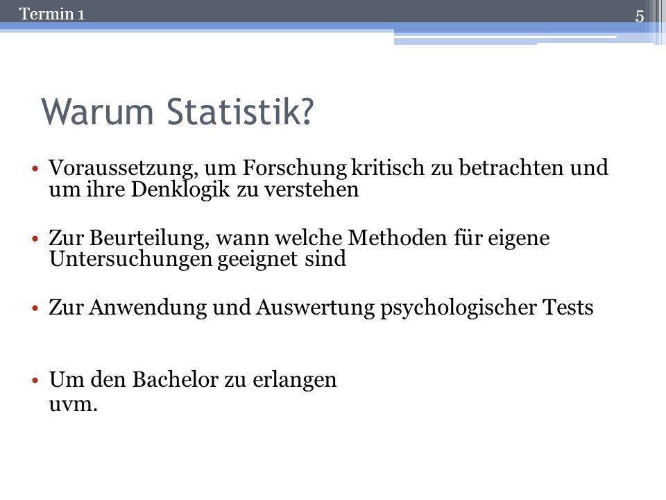 Termin 1 Warum Statistik.