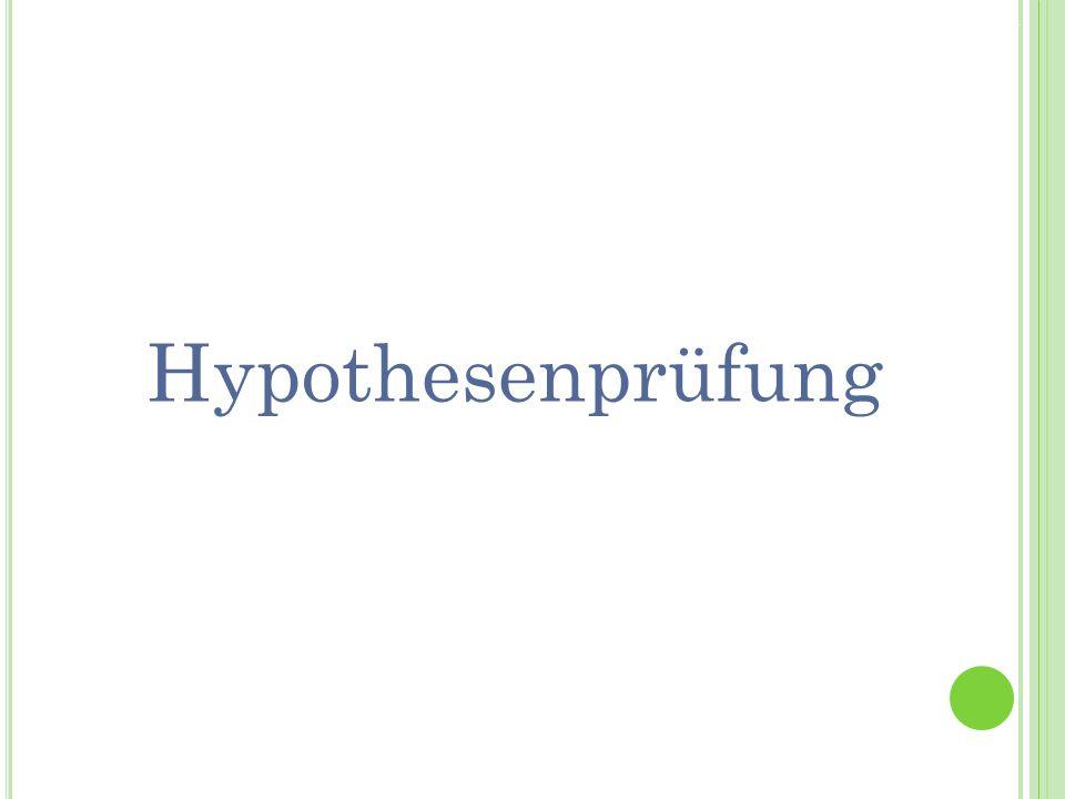 Termin 7Statistik Tutorat WS 2010/11 Hypothesenprüfung
