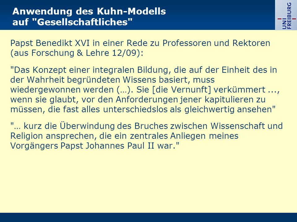 Anwendung des Kuhn-Modells auf