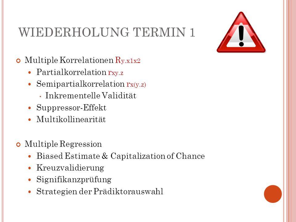 M EDIATORANALYSE : S CHRITT 2 Ausländerfeindlichkeit (Y) Autoritarismus (M) Regression von M auf X.