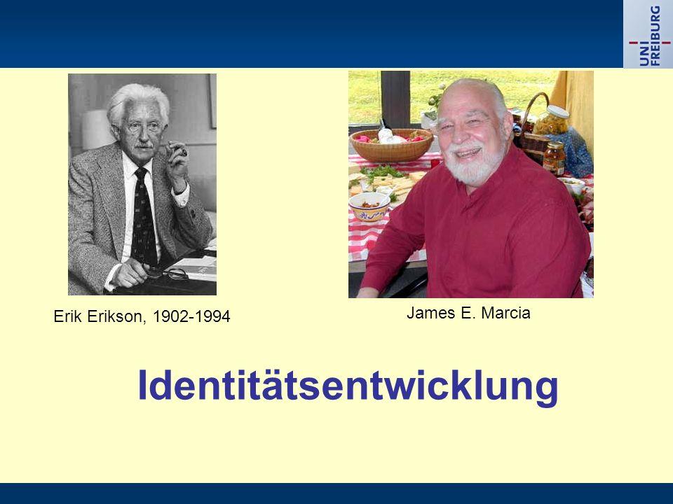 Identitätsentwicklung Erik Erikson, 1902-1994 James E. Marcia