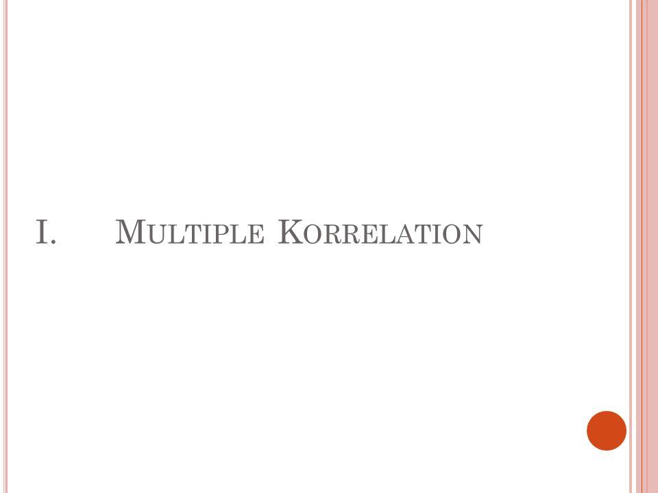 I.M ULTIPLE K ORRELATION