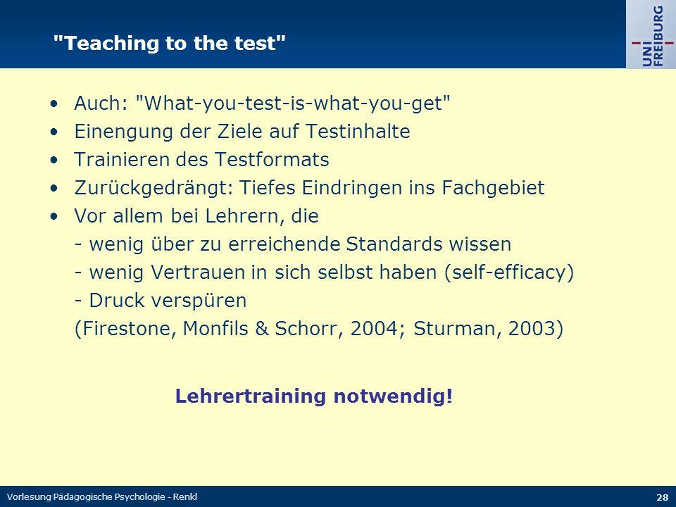 Vorlesung Pädagogische Psychologie - Renkl 28