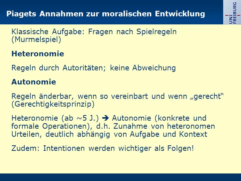 Kohlbergs Weiterentwicklung der Annahmen Piagets I.Vorkonventionelles Niveau 1.
