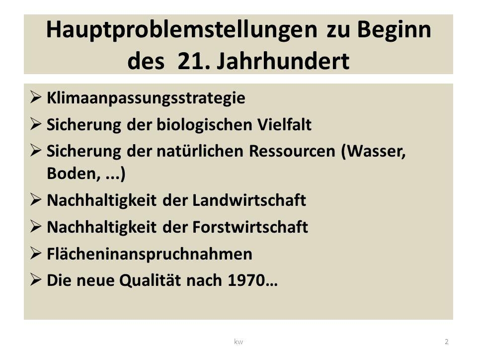 Hauptproblemstellungen zu Beginn des 21.