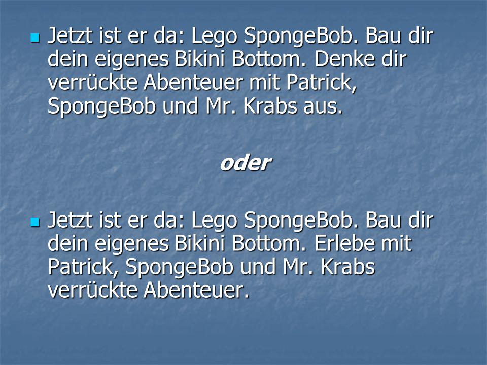 Jetzt ist er da: Lego SpongeBob. Bau dir dein eigenes Bikini Bottom.