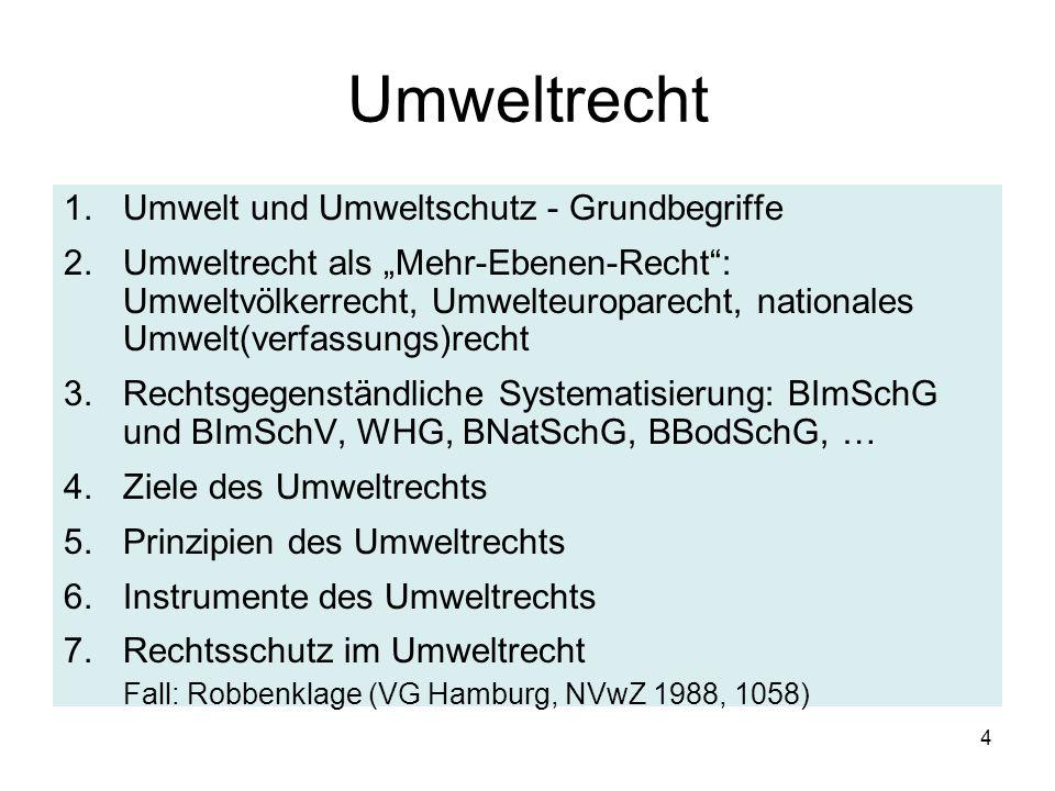 Wasserhaushaltsgesetz - WHG (WRRL 2000/60/EG) Zweistufige Gewässerbewirtschaftung - 1.Planung: §§ 27, 44, 47 WHG Guter Zustand, spezifische B- Ziele, insb.
