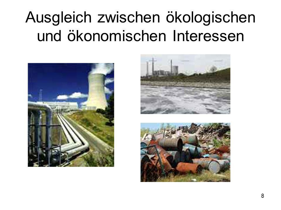 Ausgleich zwischen ökologischen und ökonomischen Interessen 8
