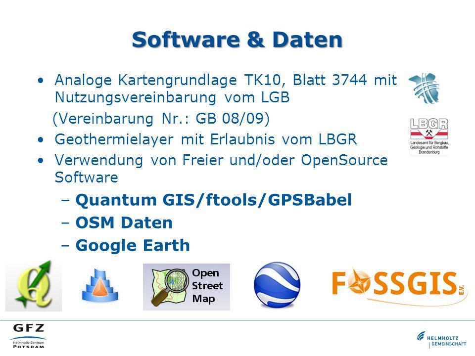 Software & Daten Analoge Kartengrundlage TK10, Blatt 3744 mit Nutzungsvereinbarung vom LGB (Vereinbarung Nr.: GB 08/09) Geothermielayer mit Erlaubnis