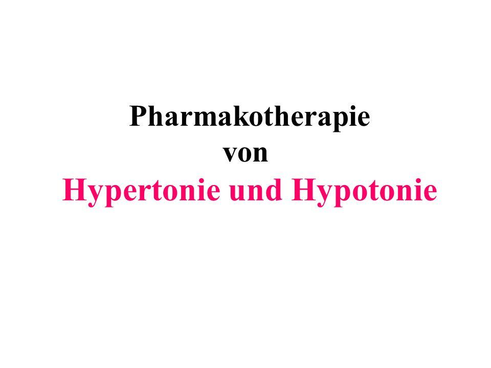 Pharmakotherapie von Hypertonie und Hypotonie