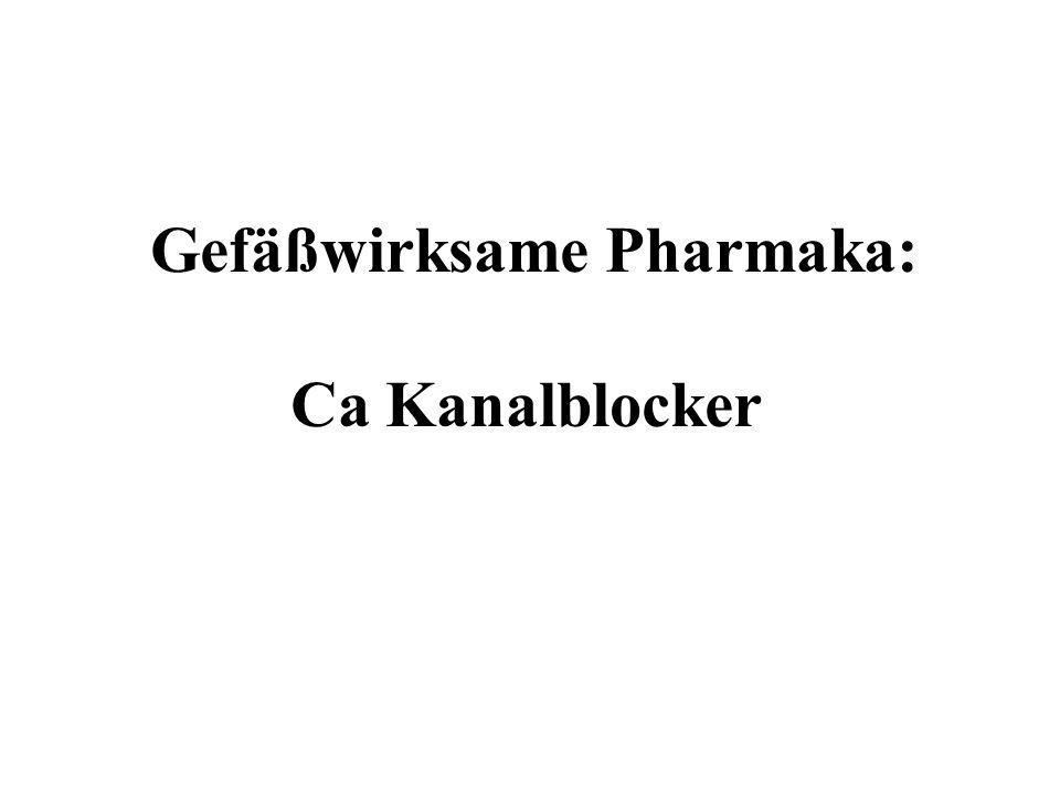 Gefäßwirksame Pharmaka: Ca Kanalblocker