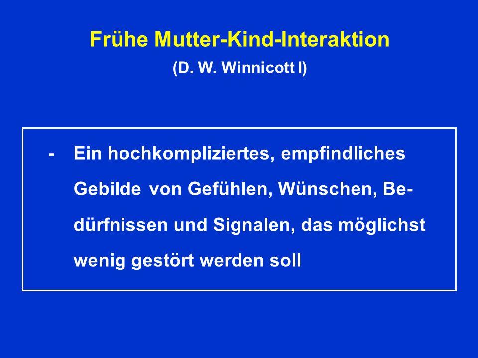 Frühe Mutter-Kind-Interaktion (D.W.