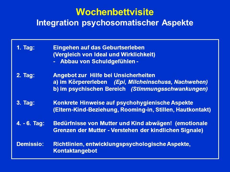 Wochenbettvisite Integration psychosomatischer Aspekte 1.