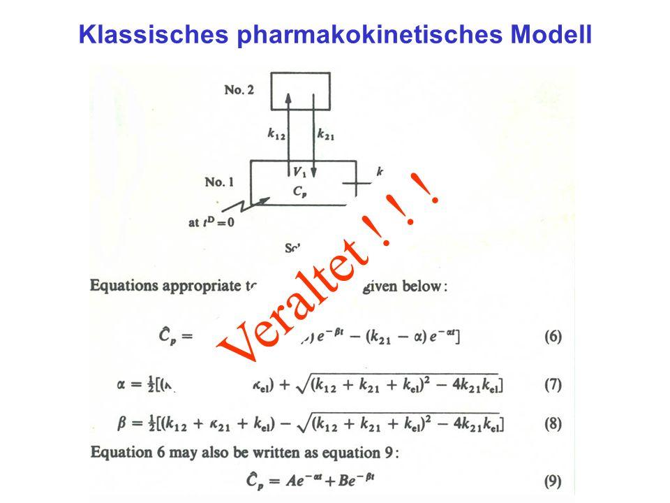 Veraltet ! ! ! Klassisches pharmakokinetisches Modell