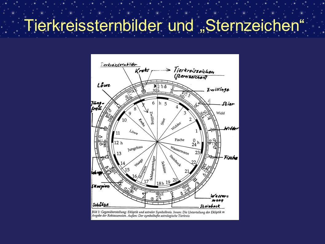 Tierkreissternbilder und Sternzeichen