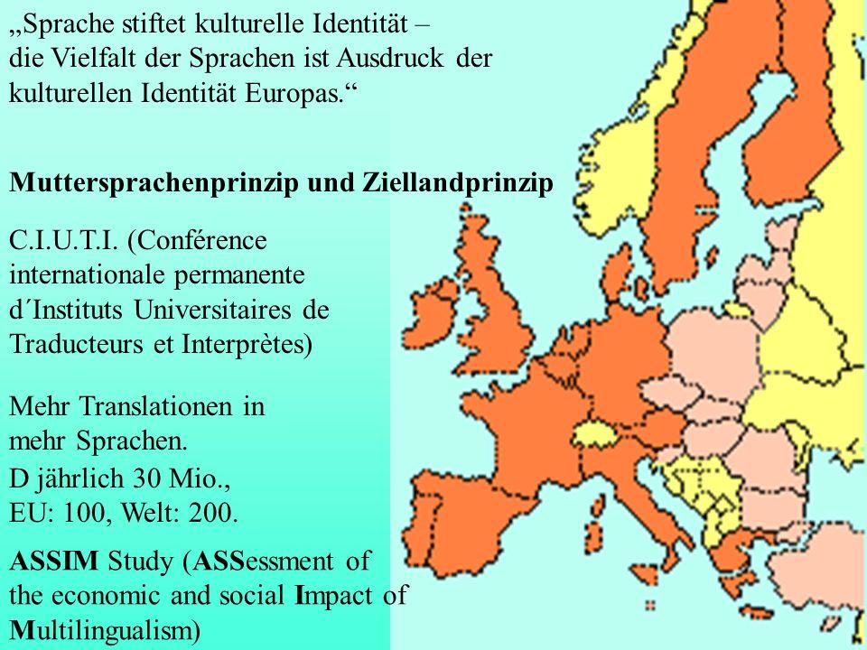 Muttersprachenprinzip und Ziellandprinzip C.I.U.T.I. (Conférence internationale permanente d´Instituts Universitaires de Traducteurs et Interprètes) M