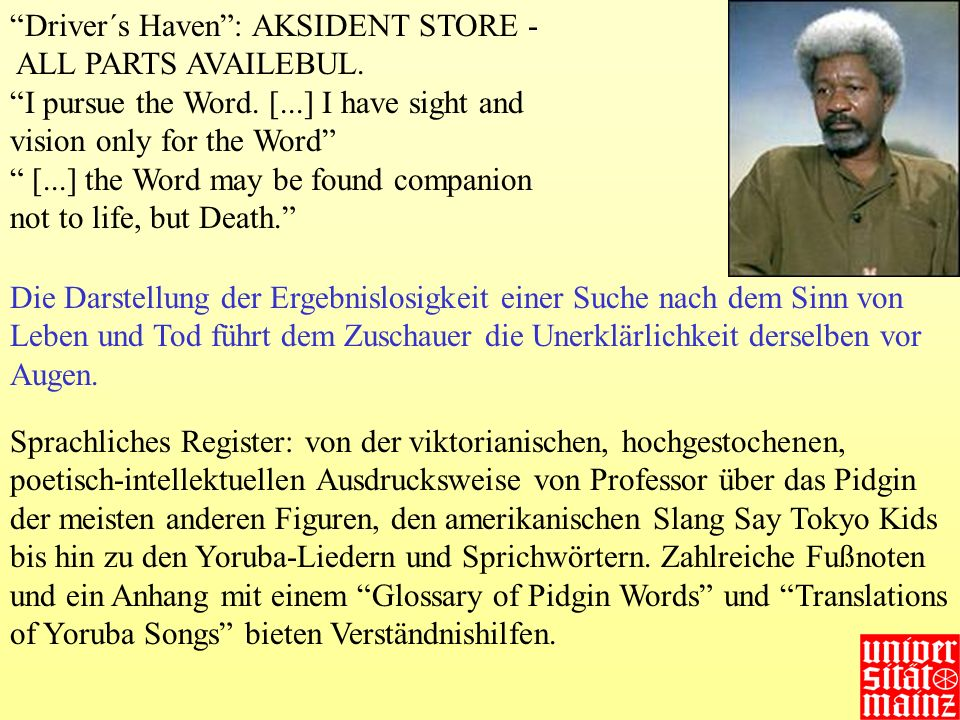 Driver´s Haven: AKSIDENT STORE -  ALL PARTS AVAILEBUL. I pursue the Word. [...] I have sight and vision only for the Word [...] the Word may be found