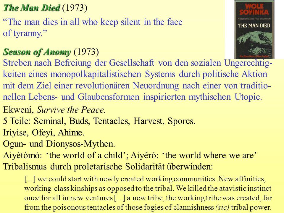 The Man Died The Man Died (1973) Streben nach Befreiung der Gesellschaft von den sozialen Ungerechtig- keiten eines monopolkapitalistischen Systems du