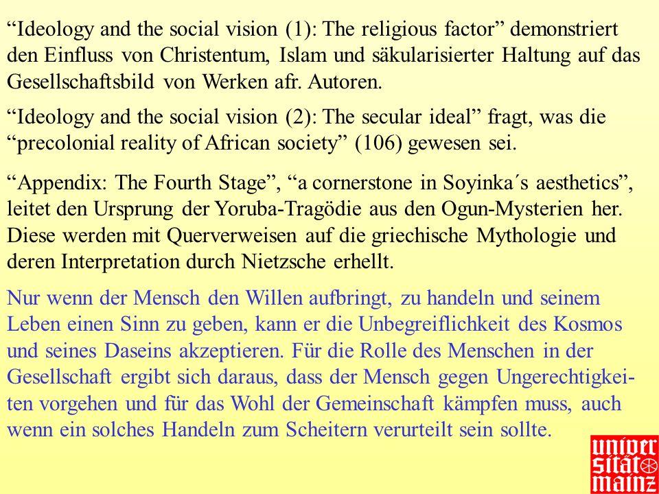Ideology and the social vision (1): The religious factor demonstriert den Einfluss von Christentum, Islam und säkularisierter Haltung auf das Gesellsc