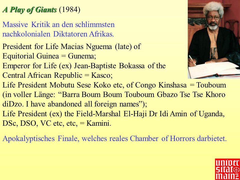 Massive Kritik an den schlimmsten nachkolonialen Diktatoren Afrikas. President for Life Macias Nguema (late) of Equitorial Guinea = Gunema; Emperor fo