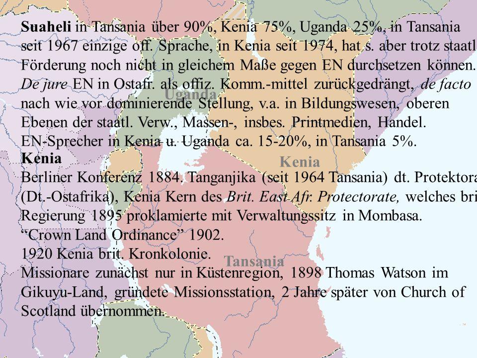 Kenia Uganda Tansania Kenia Berliner Konferenz 1884.