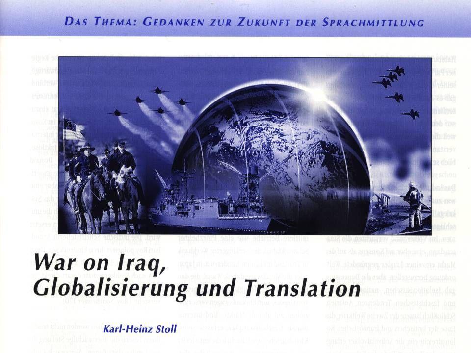 War on Iraq, Globalisierung und Translation Südafrika: War on Iraq.