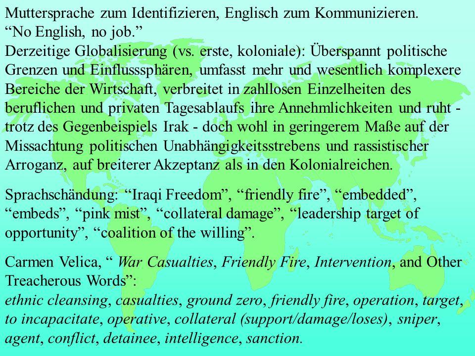 Schreibung AE -ction BE -xion connection conexion, deflection deflexion -dg- -dge- judgment judgement -e -ae,-oe anemiaanaemia, fetusfoetus, maneuver manoeuvre -er -re theatertheatre -or -our honorhonour Aussprache fast, chaff, bath, demand, example, can´t, dance top, clock, got assume, duty, new students, pollution, resume, revolution state nation bird, part, horse, near, hear, bear, board Secondary Stress: dictionary, laboratory, secretary Einzelwörter: anti, clerk, courage, Derby, fertile, hostile, hurry, leisure, lever, missile, mobile, rather, schedule, tomatoVarietäten 1.
