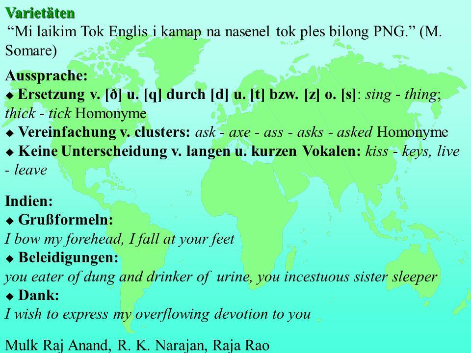 Varietäten VarietätenMi laikim Tok Englis i kamap na nasenel tok ples bilong PNG.