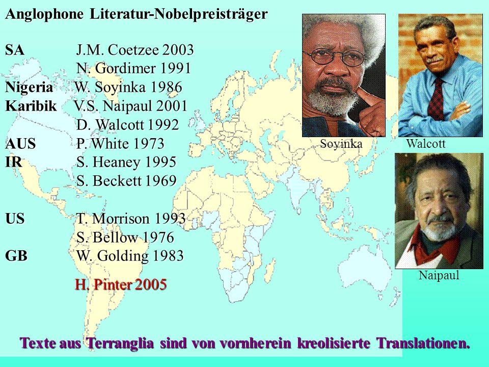 Texte aus Terranglia sind von vornherein kreolisierte Translationen.