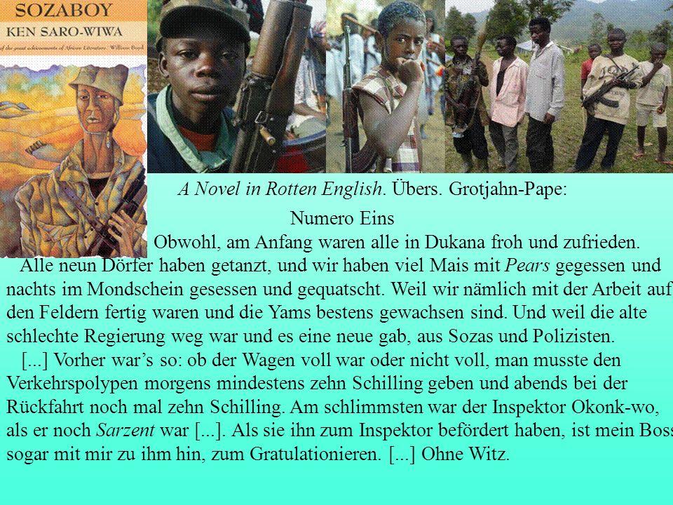 Saro-Wiwa 1985 A Novel in Rotten English.Übers.