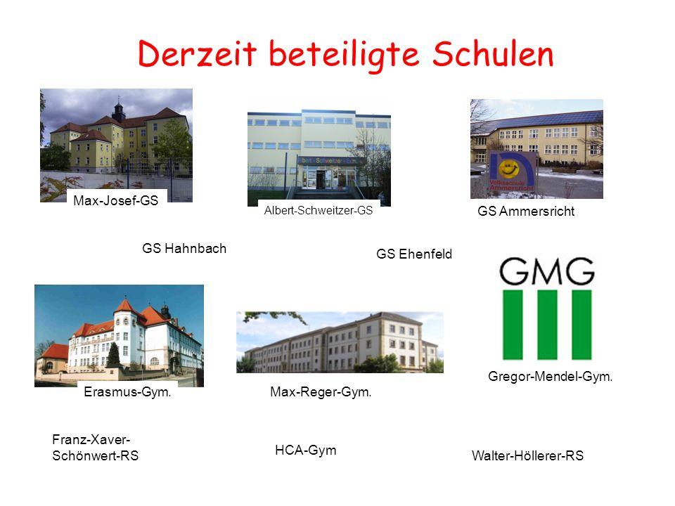 Derzeit beteiligte Schulen Max-Josef-GS Albert-Schweitzer-GS GS Ammersricht GS Hahnbach GS Ehenfeld Erasmus-Gym.Max-Reger-Gym.