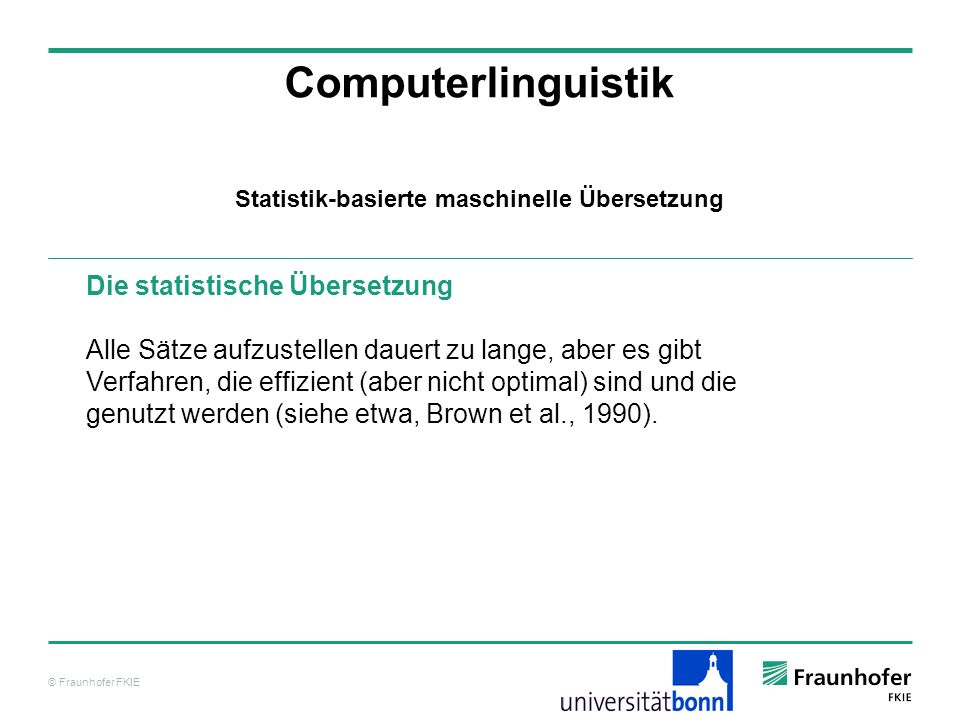 © Fraunhofer FKIE Literatur Computerlinguistik Baum, L.E.