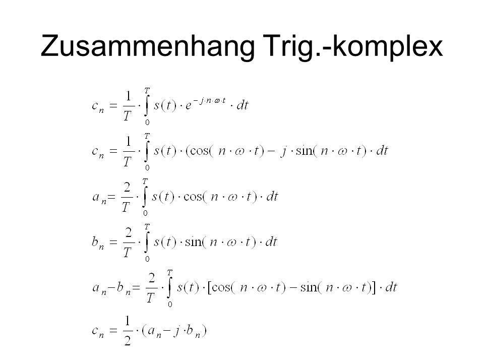 Zusammenhang Trig.-komplex