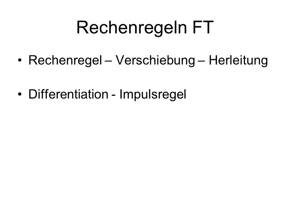 Rechenregeln FT Rechenregel – Verschiebung – Herleitung Differentiation - Impulsregel
