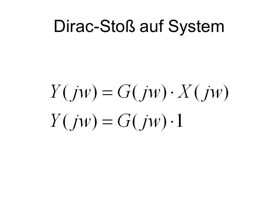Dirac-Stoß auf System