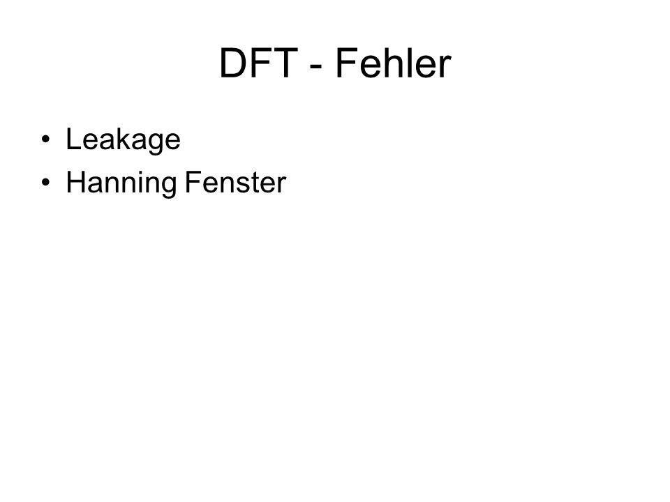 DFT - Fehler Leakage Hanning Fenster