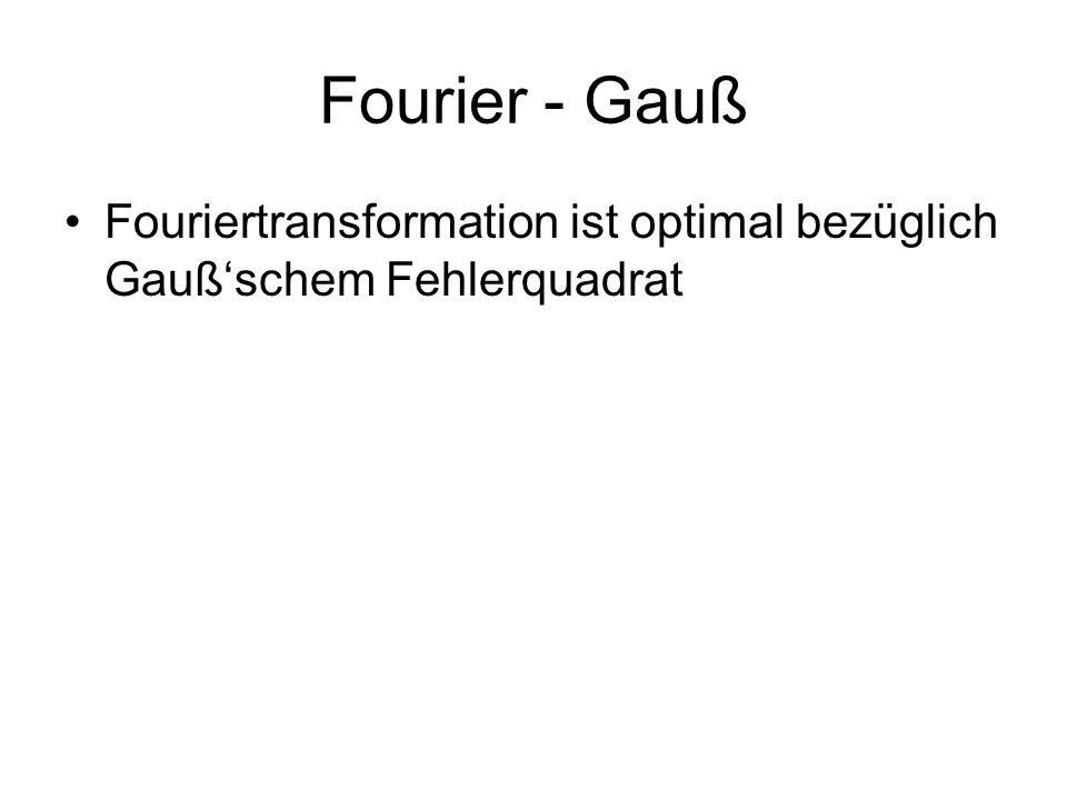 Fourier - Gauß Fouriertransformation ist optimal bezüglich Gaußschem Fehlerquadrat