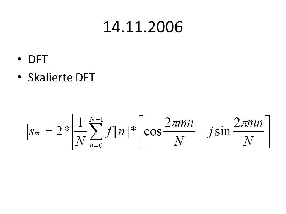 14.11.2006 DFT Skalierte DFT