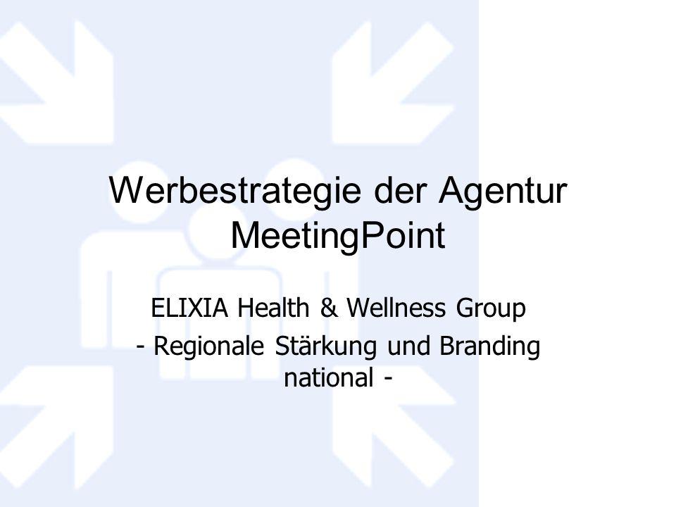 Werbestrategie der Agentur MeetingPoint ELIXIA Health & Wellness Group - Regionale Stärkung und Branding national -