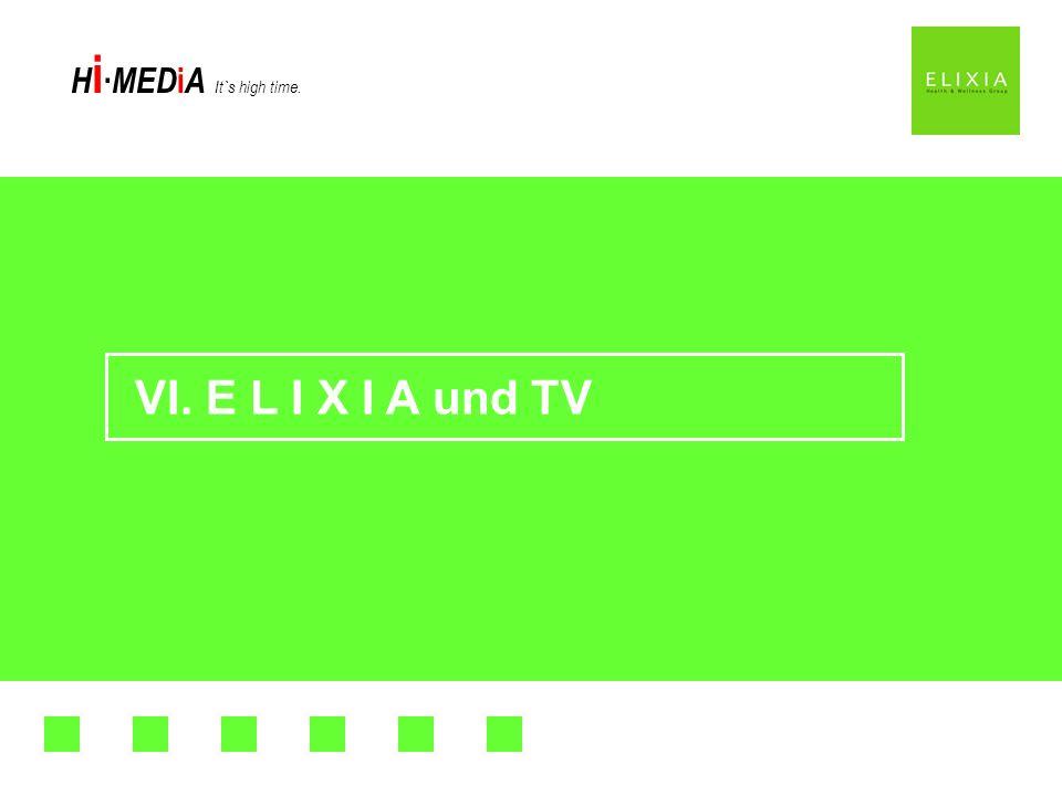 H i MED i A It`s high time. VI. E L I X I A und TV