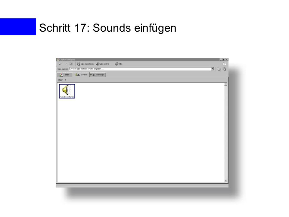 Schritt 17: Sounds einfügen