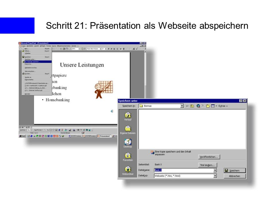 Schritt 21: Präsentation als Webseite abspeichern