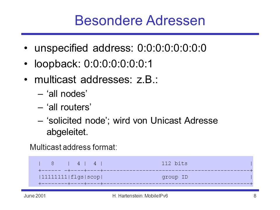 June 2001H.Hartenstein: MobileIPv619 MIPv6: Wie lernt CN die CoAs.