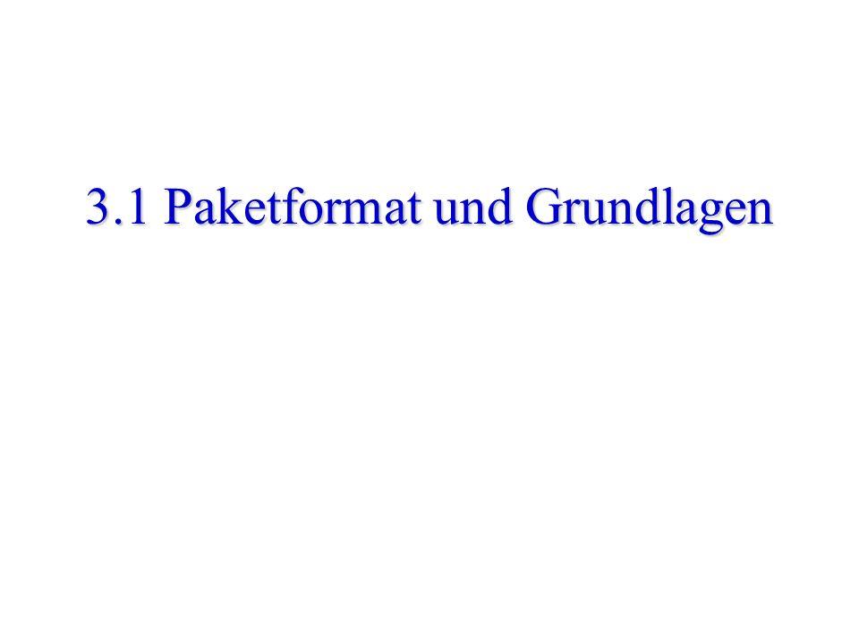 Mauve - Internet Protokolle - WS02/03 - Kapitel 3: IP 43 ICMP time exceeded Nachricht IP header (20 bytes) 0 7 1531 type (11)checksumcode (0) IP header (incl.