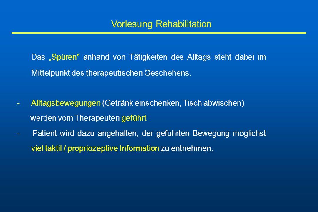 Vorlesung Rehabilitation Das Spüren