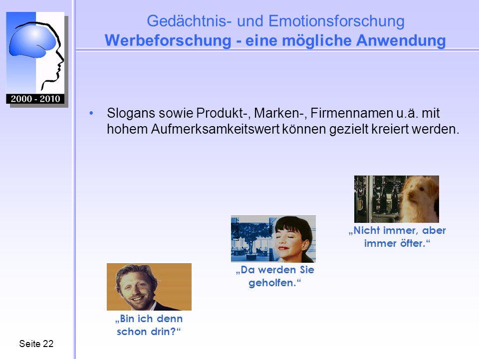 Seite22 Slogans sowie Produkt-, Marken-, Firmennamen u.ä.