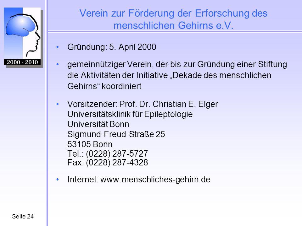 Seite25 Pressekontakt Wolfgang Büscher Büscher & Hofschulz Grenzstraße 6 53340 Meckenheim Tel.