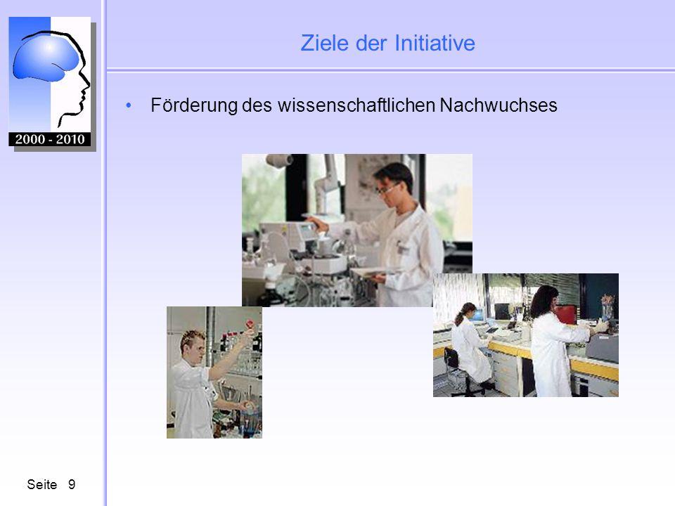 Seite9 Ziele der Initiative Förderung des wissenschaftlichen Nachwuchses
