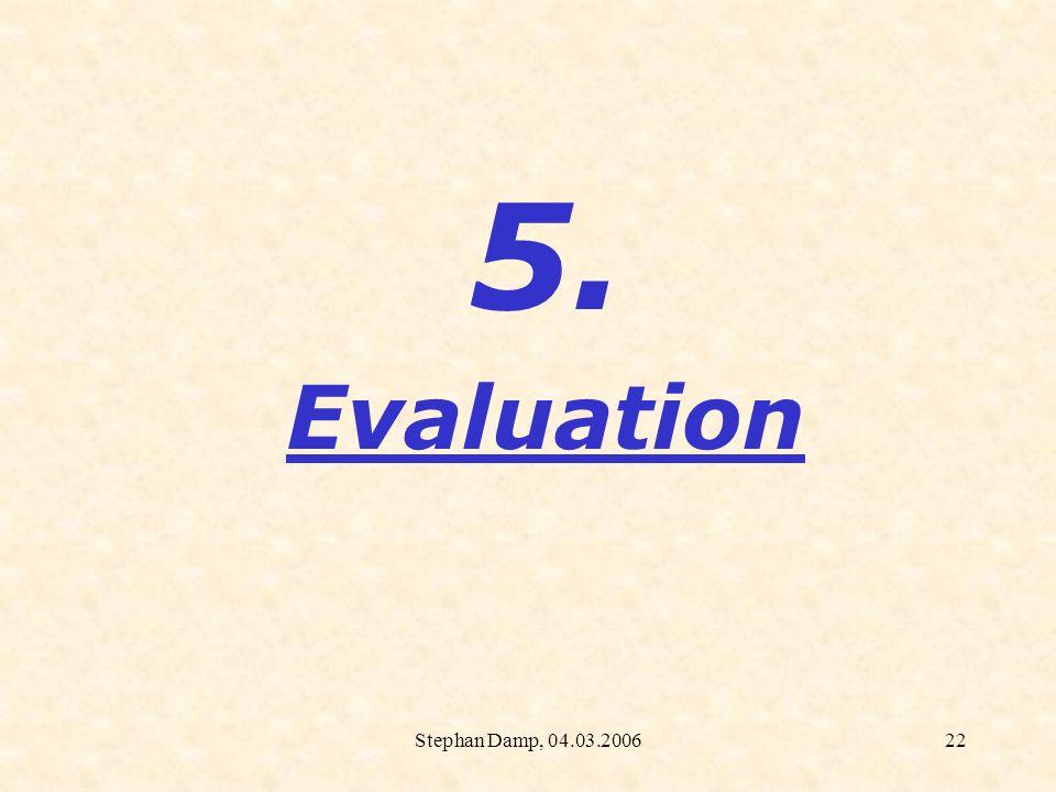 Stephan Damp, 04.03.200623 TIM: Evaluation Fachbereich Mathematik (Fachdidaktik), Prof.
