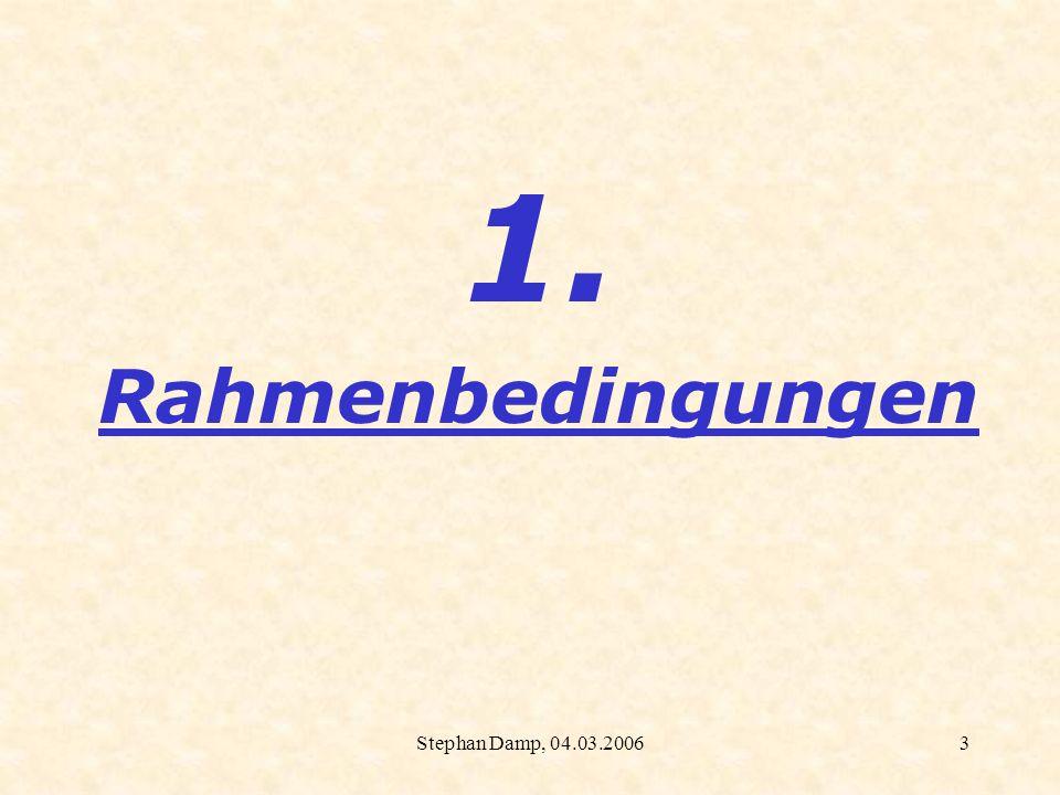 Stephan Damp, 04.03.20064 Lehrplan Rheinland-Pfalz 4.5 Verpflichtendes Arbeiten mit elektronischen Medien Festgelegt wird: In der Orientierungsstufe kann ein Taschenrechner...